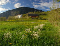 Aldea en Noruega Imagenes de archivo