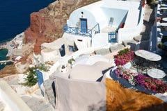 Aldea en Oia, Santorini foto de archivo libre de regalías