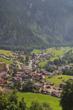 Aldea en Suiza Imagen de archivo libre de regalías