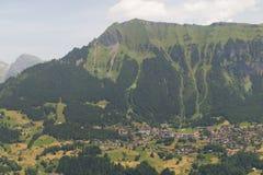 Aldea en Suiza Imagen de archivo