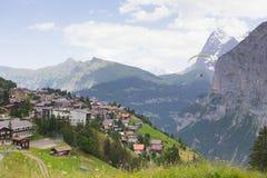 Aldea en Suiza Foto de archivo