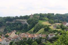 Aldea en suizo Fotografía de archivo libre de regalías