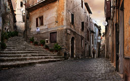 Aldea italiana vieja Fotos de archivo