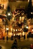 Aldea miniatura de la Navidad fotos de archivo