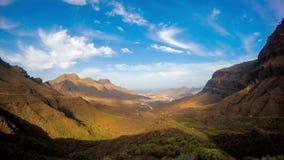 Aldea mountains on Gran Canaria island stock video