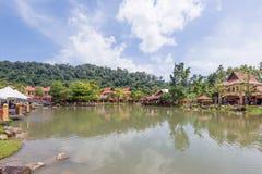 Aldea oriental, Langkawi, Malasia Foto de archivo libre de regalías