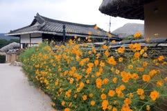 Aldea popular de Hahoe, el Sur Corea Foto de archivo libre de regalías