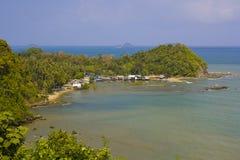 Aldea Remoted del pescador Foto de archivo libre de regalías