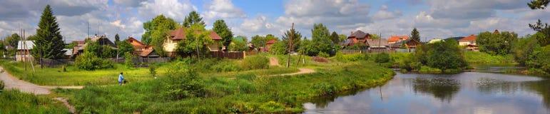 Aldea rusa foto de archivo libre de regalías