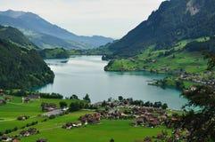 Aldea suiza Foto de archivo