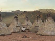 Aldea tradicional de la tienda de los indios norteamericanos Imagen de archivo