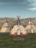 Aldea tradicional de la tienda de los indios norteamericanos Imagen de archivo libre de regalías