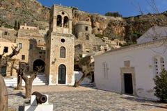 Aldea tradicional de Monemvasia en Grecia Foto de archivo