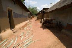 Aldea tribal Foto de archivo libre de regalías