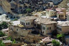Aldea turca, en Cappadocia Fotografía de archivo