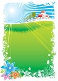 Aldea verde stock de ilustración