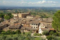 Aldea vieja en Toscana, Italia imagenes de archivo