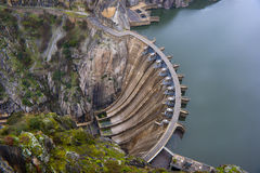 Aldeadavila,水坝,水库 免版税库存图片