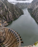 Aldeadavila水坝在西班牙 库存照片