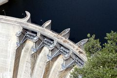 Aldeadavila dam Royalty Free Stock Photo