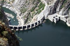 Aldeadavila dam Stock Photography