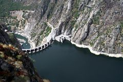 Aldeadavila dam Royalty Free Stock Photography