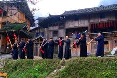 Aldeas originales hermosas en Guizhou, China Imagen de archivo