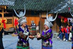 Aldeas originales hermosas en Guizhou, China Fotografía de archivo
