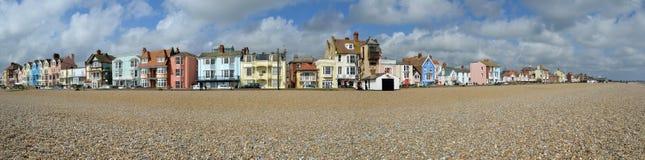 Aldeburgh沿海岸区全景 免版税图库摄影