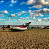 Aldeburgh海滩 免版税库存图片