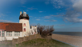 Aldeburgh Beach and Mill Royalty Free Stock Image
