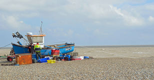 Aldeburgh Fishermen Mending Nets Royalty Free Stock Images