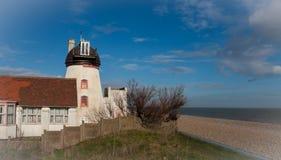Aldeburgh młyn i plaża Obraz Royalty Free