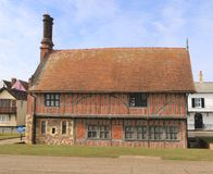 Moot Hall - side view. The Aldeburgh Moot Hall is a Grade I listed timber-framed building which has been used for council meetings for over 400 years. The Town stock photos