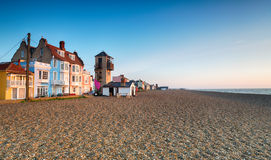 Aldeburgh Seafront. The seafront and beach at Aldeburgh on the Suffolk coast Stock Images