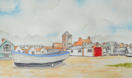Aldeburgh Seafront Royalty Free Stock Photos