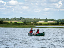 ALDEBURGH, SUFFOLK/UK - JULY 31 : People Canoeing on the River A Stock Photo
