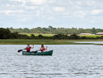 ALDEBURGH, SUFFOLK/UK - JULY 31 : People Canoeing on the River A Stock Image