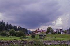 Aldeia da montanha Imagem de Stock Royalty Free