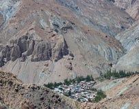 Aldeia da montanha em Tajiquistão Imagens de Stock