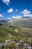Aldeia da montanha italiana Castelluccio Fotografia de Stock Royalty Free