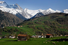 Aldeia da montanha Switzerland Foto de Stock Royalty Free