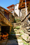 Aldeia da montanha típica pequena do schist Foto de Stock Royalty Free