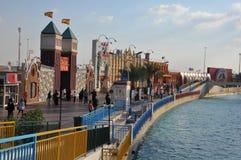 Aldeia global em Dubai, UAE fotografia de stock