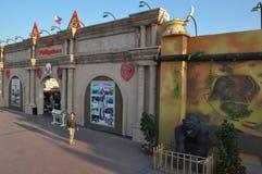Aldeia global em Dubai, UAE fotografia de stock royalty free