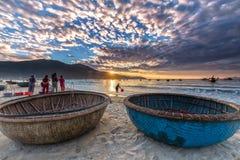 Aldeia piscatória adiantada do mar do mercado de peixes do Da Nang Imagem de Stock Royalty Free