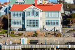 Aldeia piscatória bonita sueco Fotografia de Stock Royalty Free