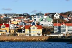 Aldeia piscatória bonita sueco Foto de Stock