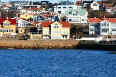 Aldeia piscatória bonita sueco Imagem de Stock Royalty Free
