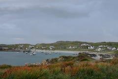 Aldeia piscatória, condado de Donegal, Ireland imagem de stock